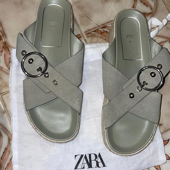 Zara platform sandals New